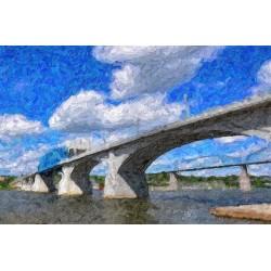 Market Bridge Oil Painting
