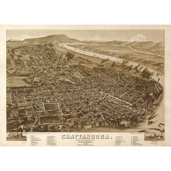 Chattanooga Map 1886